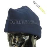 Cappello 3 Punti in Pile Antipilling Blu Navy