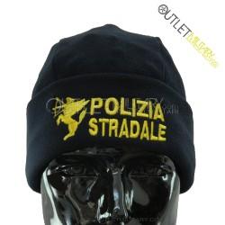 Cappello Tondo Blu in Pile Antipilling POLIZIA STRADALE