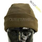 Cappello Tondo in Pile Antipilling Verde Militare