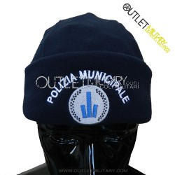 Cappello Tondo Blu in Pile Antipilling POLIZIA MUNICIPALE EMILIA ROMAGNA