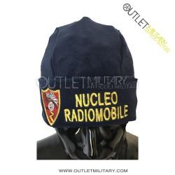Cappello Tondo Blu in Pile Antipilling CARABINIERI RADIO MOBILE STEMMA E SCRITTA