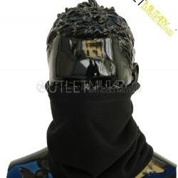 Collars fleece with elastic lace black