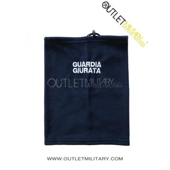 Scaldacollo Blu in Pile Antipilling con Laccio GUARDIA GIURATA BIANCA