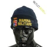 Cappello Tondo in Maglia Blu Navy MARINA MILITARE