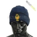 Cappello Tondo in Maglia Blu Navy POLIZIA di STATO