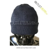 Cappello tondo in lana blu navy