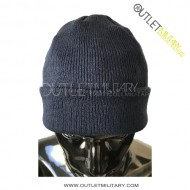 Watch cap wool navy blue