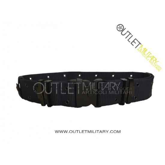 Cinturone Tattico Blu Navy H 5,50 cm con Fibbia di sicurezza