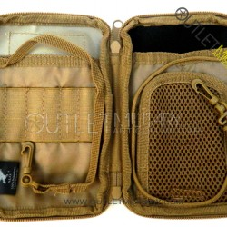 Little bag with multi-purpose system M.O.L.L.E. military coyote