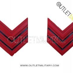 Coppia di Gradi Metalli Carabinieri Appuntato