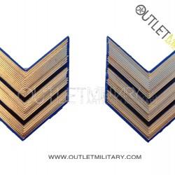 Coppia di Gradi Metalli Esercito Italiano Sergente Maggiore (Aviotruppe)