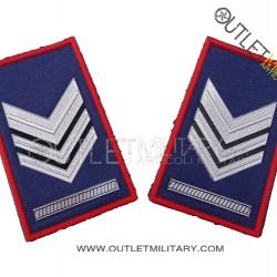 Coppia di Gradi Tubolari Estivo Carabinieri Brigadiere Capo