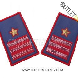 Coppia di Gradi Tubolari Estivo Carabinieri Luogotenente