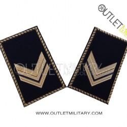 Coppia di Gradi Tubolari Esercito Italiano Sergente