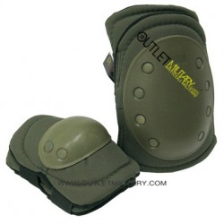 SET KNEE/ELBOW PADS ARMY GREEN