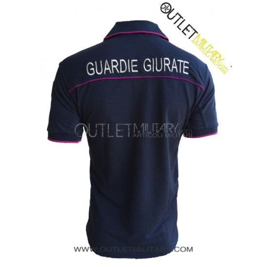 ALGI Polo Guardie Giurate Polipropilene Blu Navy