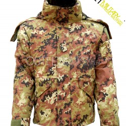 Parka italian camouflage with fleece liner