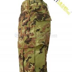 Italian camouflage BDU cotton ripstop with polyfilo