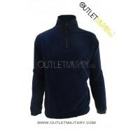 Fleece sweater with zipper navy