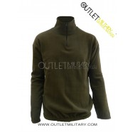 Fleece sweater with zipper green