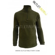 Micro fleece sweater with zipper green