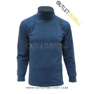Turtleneck sweater in micro royal fleece