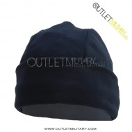 Fleece round cap navy blue