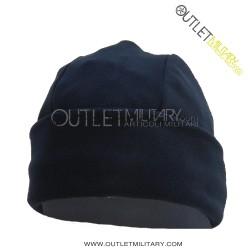 Fleece round cap navy blue
