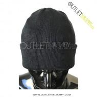Cappello tondo in lana nero
