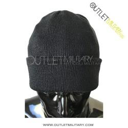 Cappello tondo in maglia nero