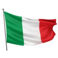 Italy flag 90x150 cm in glossy poliesere