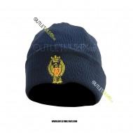 Cappello Tondo in Maglia Blu POLIZIA di STATO