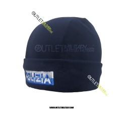 Cappello in Pile Blu POLZIA In Bicolore