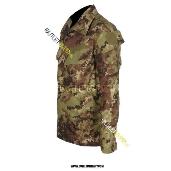 Completo Tuta Mimetico da Combattimento Ripstop Con Polyfilo Vegetato (Versione Militare con stellette applicate)