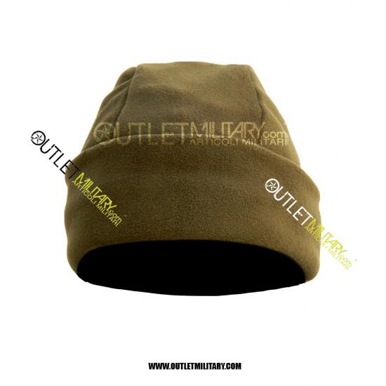 Cappello Tondo Pile Antipilling Verde Militare
