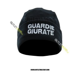 Cappello Tondo Blu in Pile Antipilling GUARDIE GIURATE BIANCA