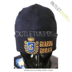 Cappello Tondo in Maglia Blu GUARDIA GIURATA CON ALLORO CELESTE