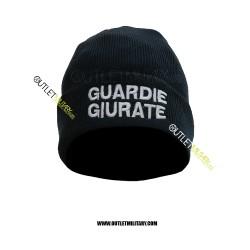 Cappello Tondo in Maglia Blu GUARDIE GIURATE BIANCO
