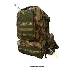 Zaino Militare Tattico Large 70 Litri Vegetato Militare
