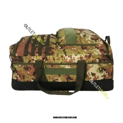 Borsone Trolley Militare con Tre Ruote 130 Litri Vegetato Militare + Beauty case viaggio omaggio