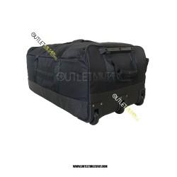 Borsone Trolley Militare con Tre Ruote 130 Litri Nero