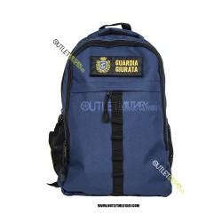 Zaino Tattico Xsmall con Molle 20 Litri Blu Navy + patch velcro GUARDIA GIURATA