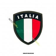 Scudetto Italia  Verde in Gomma a Strappo