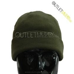 Cappello tondo in maglia verde militare