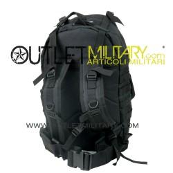 Zaino Militare Tattico con sistema MOLLE Medium 50 Litri Nero