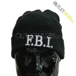 Cappello Tondo in Maglia Nero FBI