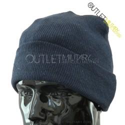 Cappello Tondo in Maglia Blu Navy