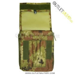 Borsino Porta Block Notes Militare Vegetato