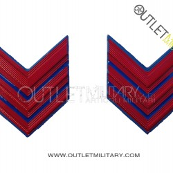Coppia di Gradi Metalli Esercito Italiano Caporal Maggiore (Aviotruppe) VFP4