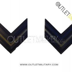 Coppia di Gradi Metalli Esercito Italiano Caporale VFP1